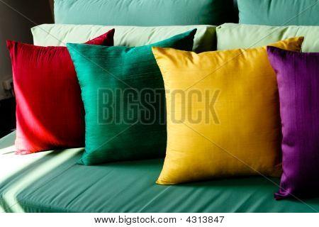 Colorful Silk Cushions