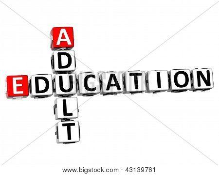 3D Adult Education Crossword