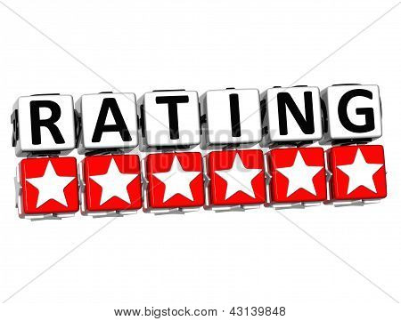 3D Rating Button Click Here Block Text