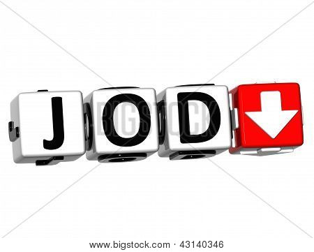 3D Jordanian Dinar Currency Jod Button Click Here Block Text