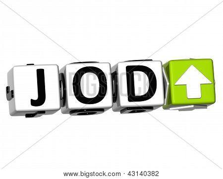 3D Jordanian Dinar Currency Jod Button Click Here Block Text