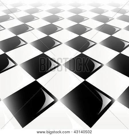Checker Perspective Background