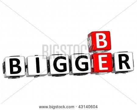 3D Be Bigger Crossword