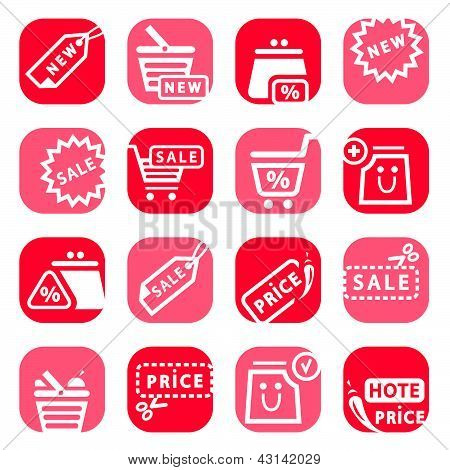 Color Online Shopping Icons