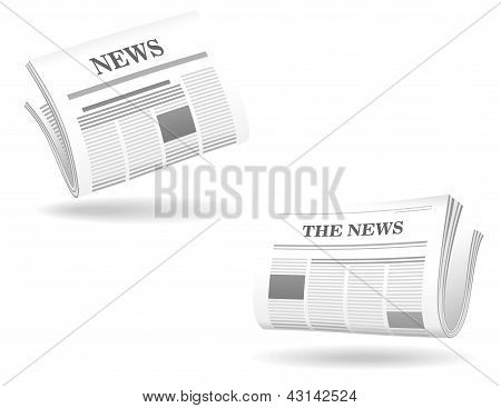 Newspaper realistic icons