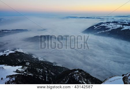 sunrise over Rigi Alp