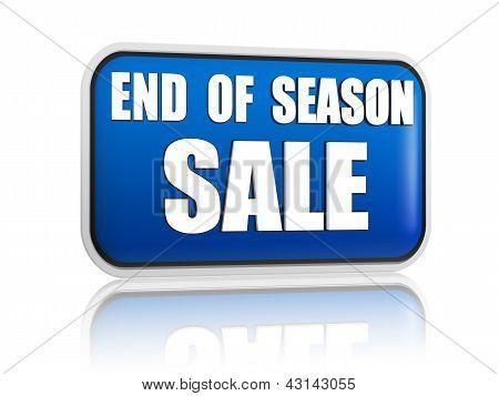 End Of Season Sale Blue Banner