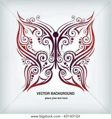 Vector illustration of abstract butterfly