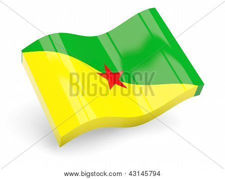 3d flag of french guiana