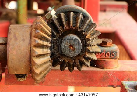 Close Up On The Old Bevel Gears