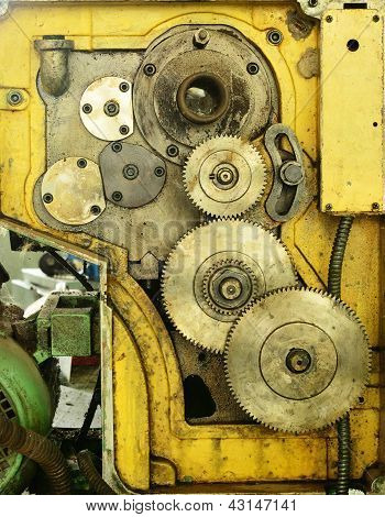 Old Gear Of Lathe Machine
