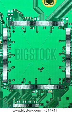 Close Up On A Regtangle Of The Old Electronic Circuit Boards  Background