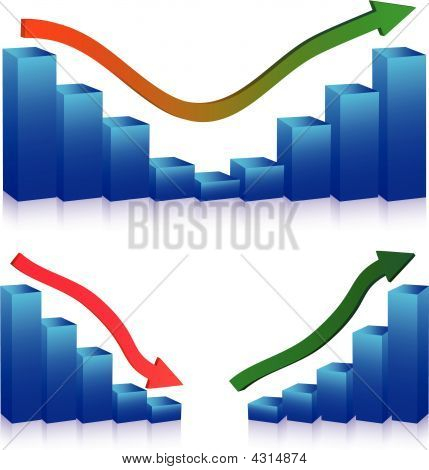 Business Failure And Growth Graphs And Arrows