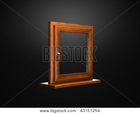 Elegant Fiberglass Window With Oak Coverage