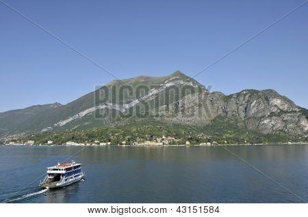 Car ferry on Lake Como