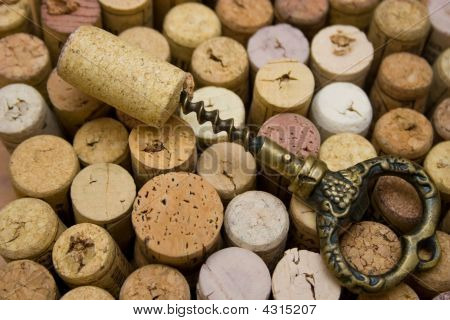 Stoppers And Old Corkscrew.