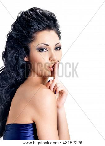 Portrait Of Woman With  Expression Silent