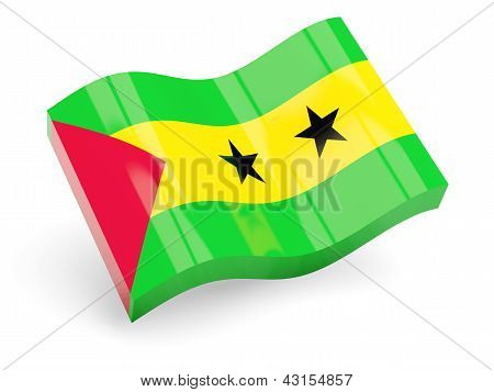 3d flag of sao tome and principe