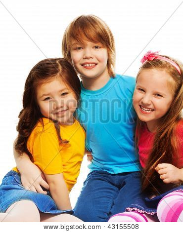 Little Boy And Girls