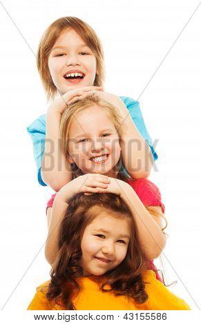 Portrait Of Three Kids
