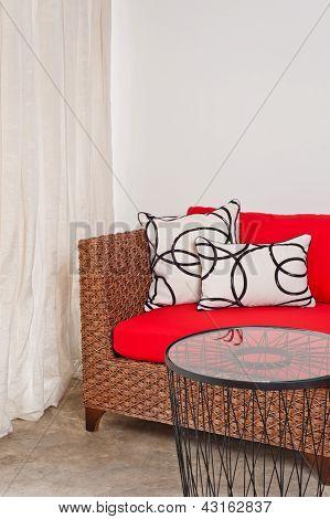 Basketwork Sofa