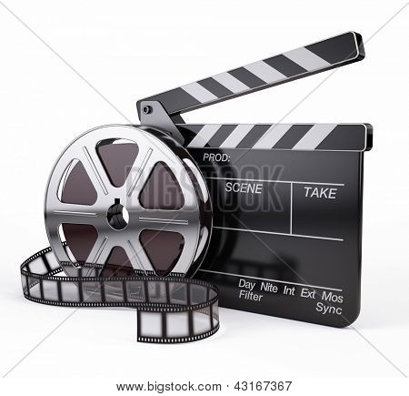 Film und Clapper Board - video-Symbol