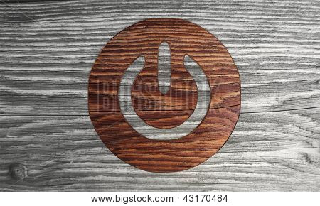 wooden Isolated on symbol in a modern background