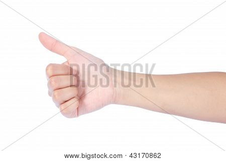 Woman Hand Showing Thumb Up