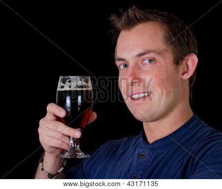 Man Drinking A Beer