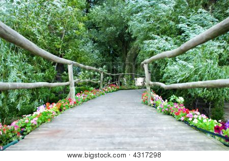 Wooden Decorative Bridge