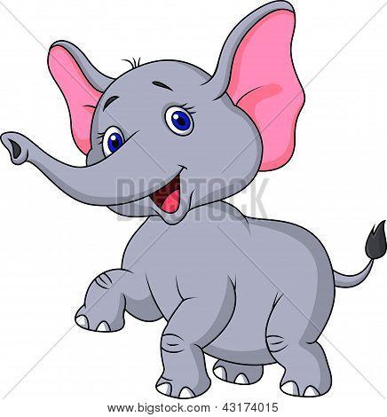 跳舞的大象卡通