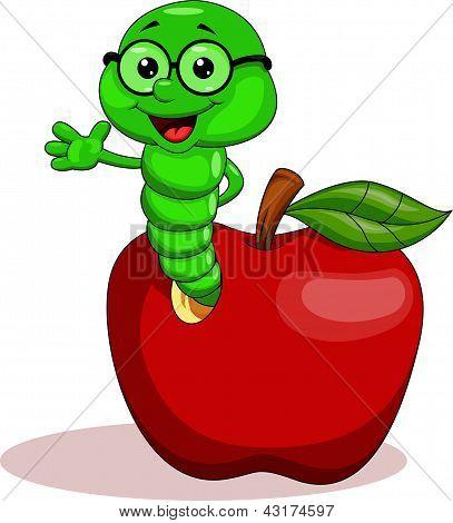 Gusano y la manzana