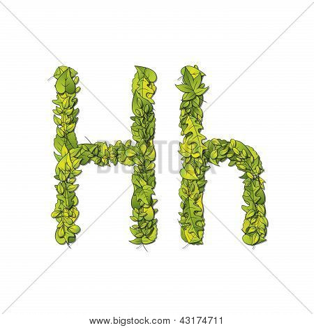 Leaf Font H