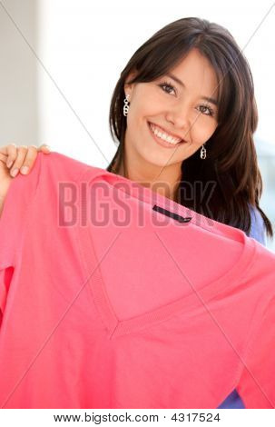 Casual Woman Shopping Clothes