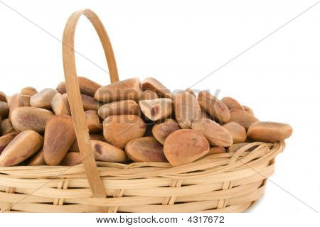 Pine Nuts In A Basket