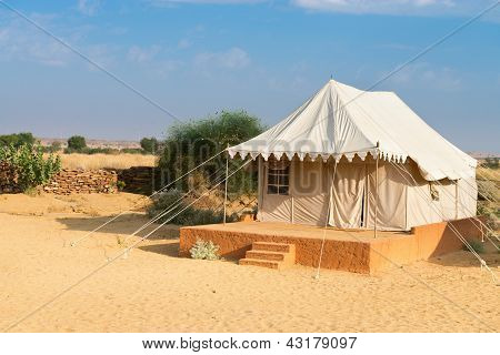 Tent Camping Site Hotel In A Desert