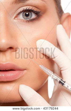 syringe injection beauty concept