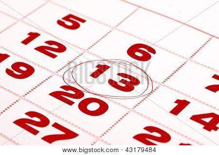 Thirteenth Day In Calendar Detail