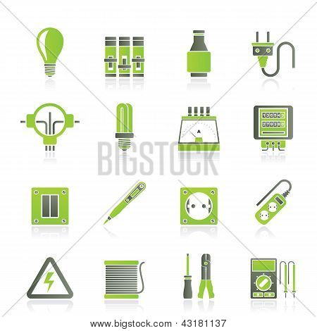 Electrical devices and equipment icons