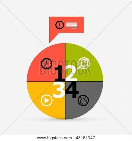 Modern round infographic design template