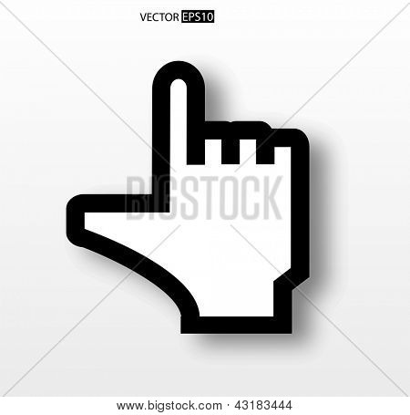 Hand  cursor icon. Vector illustration.