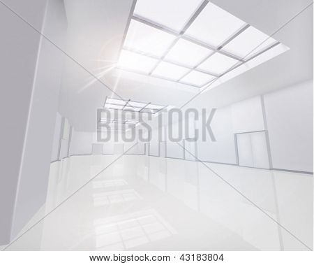 Interior Business Center. Vector illustration.