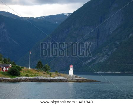 Lighthouse Of The Fjord