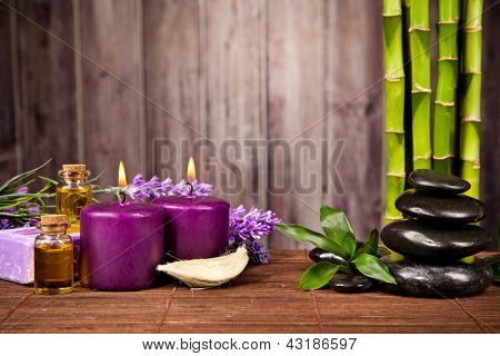 Spa still life with free space for text