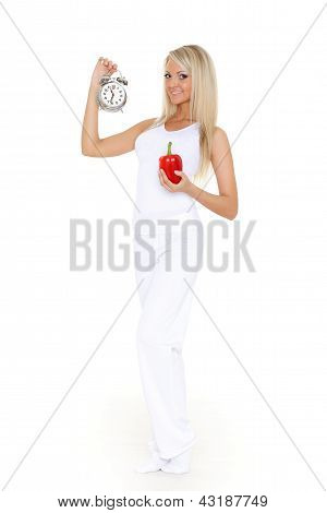 Concept Of Time For Slimming.