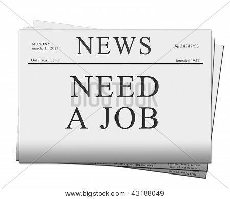 seaking for job  newspapers