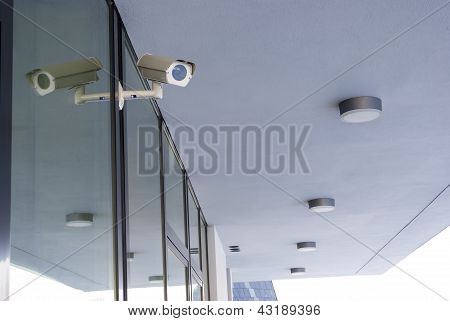 Camera system guarding office building
