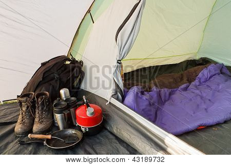 Dome Tent Camping Interior