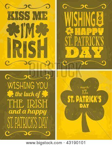 St. Patrick's Day Cards Set
