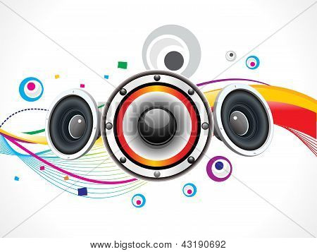 Abstract Colorful Sound Wave